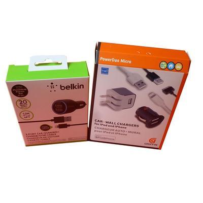 Kraft paper custom made electronic packing box and uv