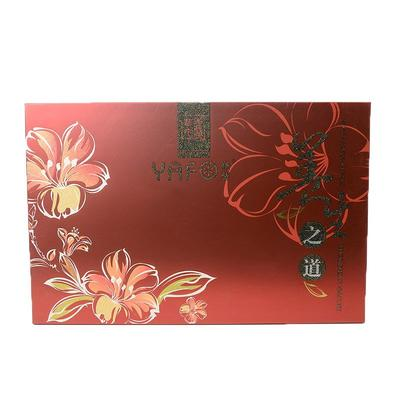 Red printing and shimmering powder artistic packaging box